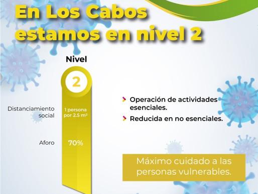 Los Cabos pasa al nivel 2 del Sistema de Alertas Sanitarias de BCS