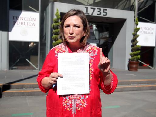 PRESENTA XÓCHITL GÁLVEZ DENUNCIA POR PRESUNTAS COMPRAS IRREGULARES
