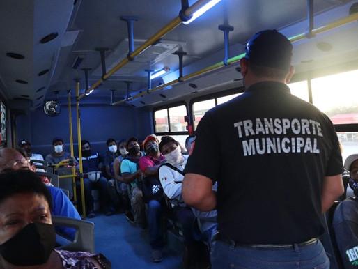 Gobierno de Los Cabos continúa implementando filtros de seguridad y salud en el Transporte Público