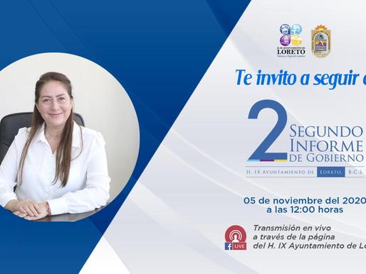 INVITA ARELY ARCE A VISUALIZAR SU SEGUNDO INFORME DE GOBIERNO