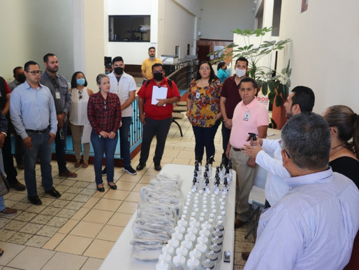 Para prevenir el contagio de Coronavirus, se entrega material de higiene a las oficinas de la Delega