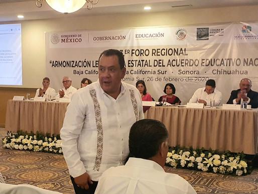 Participa Profr. Nicolás Gutiérrez en el Foro Regional para la Armonización de la Reforma Educativa