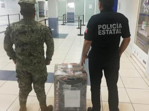 ASEGURA MESA DE SEGURIDAD DROGA EN PICHILINGUE