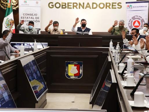 SUSPENDE CONSEJO ESTATAL DE PROTECCIÓN CIVIL CLASES EN LOS CABOS Y LA PAZ, DE MANERA PREVENTIVA