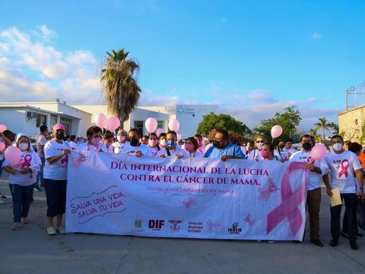Cabeños se sumaron a la Marcha por el Día Internacional de la Lucha Contra el Cáncer de Mama