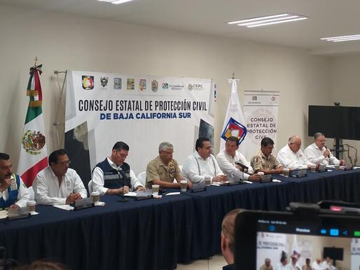 "ATENTO CONSEJO ESTATAL DE PROTECCIÓN CIVIL A EVOLUCIÓN DE ""NARDA"""