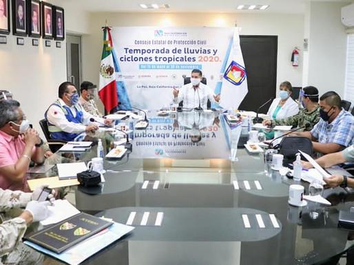 DEFINEN PROTOCOLO COVID PARA EVACUACIONES Y TRASLADOS A REFUGIOS TEMPORALES DE BCS: ÁLVARO DE LA PEÑ