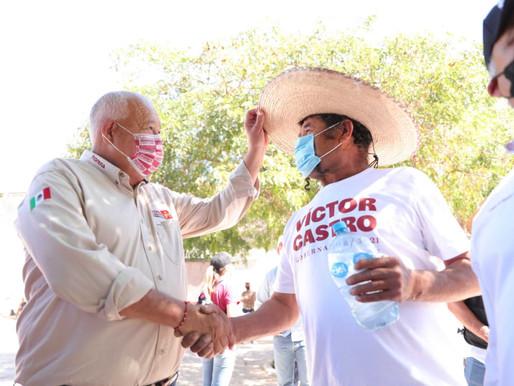 Con gobierno estatal de Morena, municipios tendrán atención y trato digno: Víctor Castro