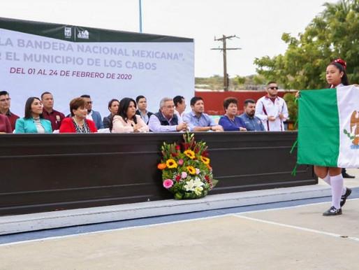 ncabeza Alcaldesa Armida Castro inicio de la Ruta de la Bandera Nacional Mexicana por el municipio d
