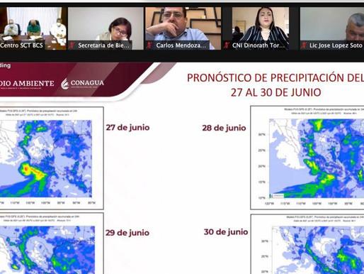 """MONITOREA CONSEJO ESTATAL DE PROTECCIÓN CIVIL TRAYECTORIA DE """"ENRIQUE"""""""