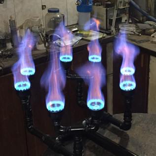 Quemador de 8 fuegos para olla de 500 litros y mas.
