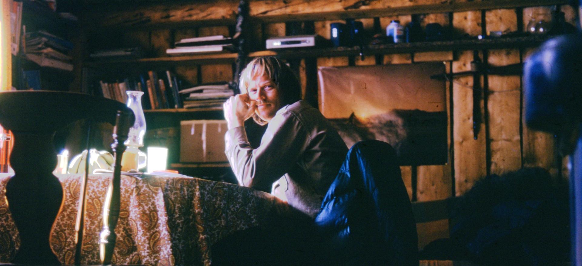 Richard taking a break from writing field notes in Huslia, Alaska.