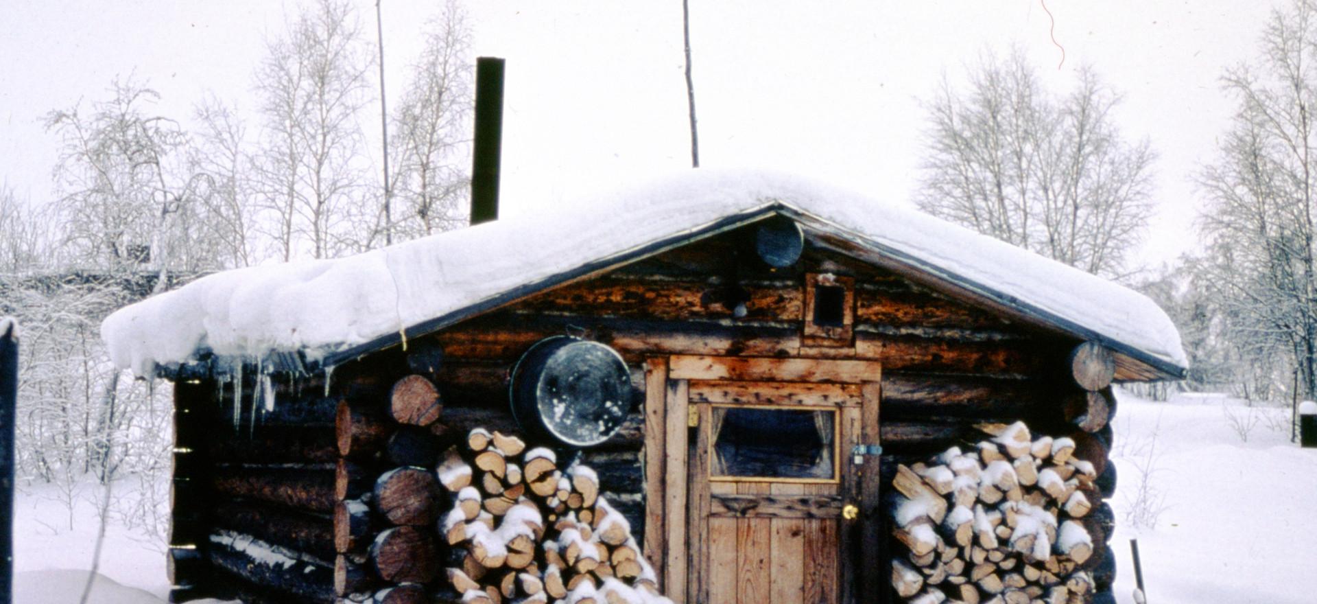 Richard's one room cabin in Huslia, Alaska.