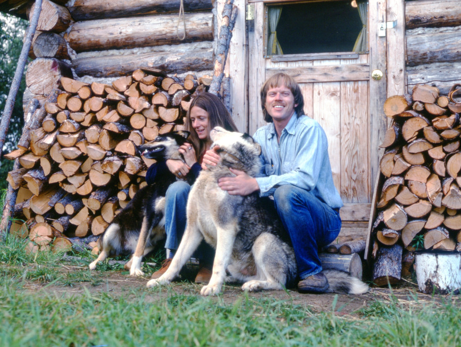 Richard and Kathy Mautner in the cabin they shared in Huslia, Alaska.
