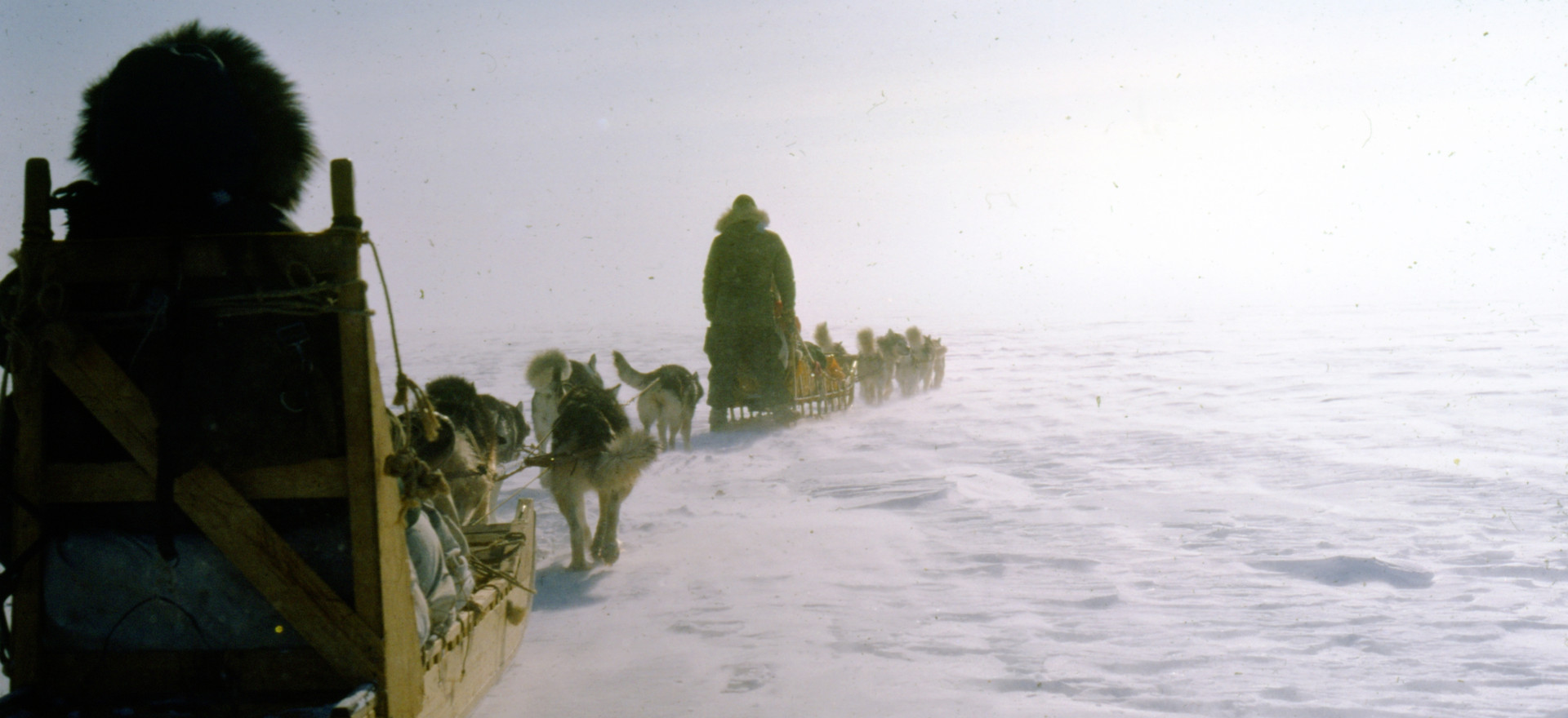 Richard left Wainwright in the fall of 1966. Ten years and four dog teams later, he's mushing with friends through Dalki Pass to spend the winter in Huslia, a village on the banks of the Koyukuk River.