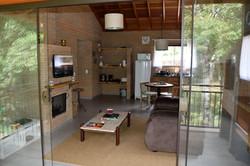 Vista da Sala e Cozinha