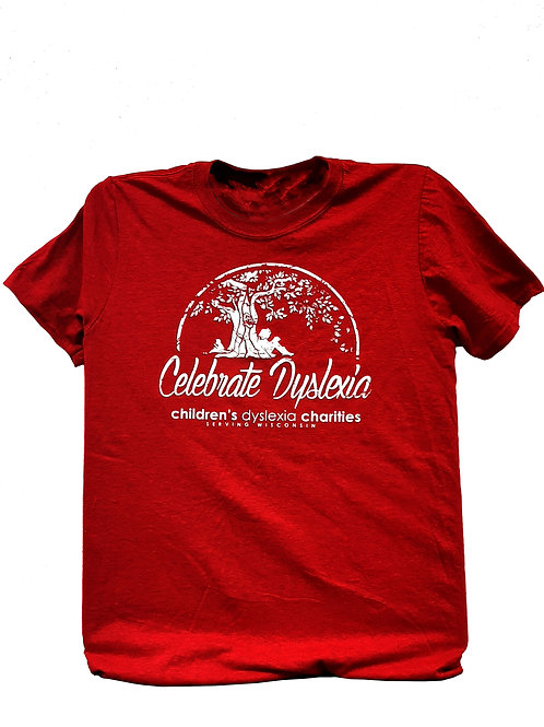 RED - Celebrate Dyslexia T-shirt