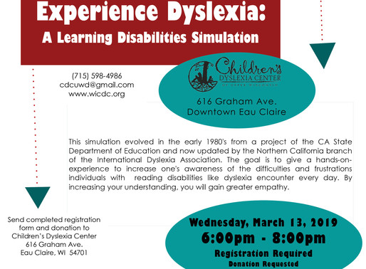 Experience Dyslexia - March 13, 2019
