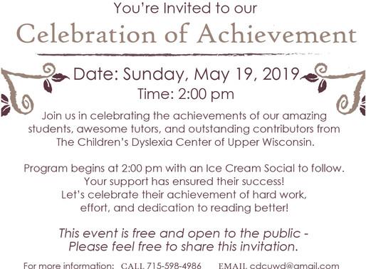2019 Celebration of Achievements-Special Invite