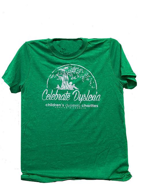 GREEN - Celebrate Dyslexia T-shirt