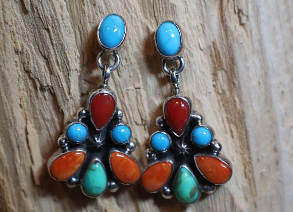 Navajo Cluster Earrings