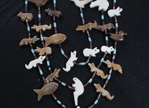 Beautiful Zuni Fetish Necklace