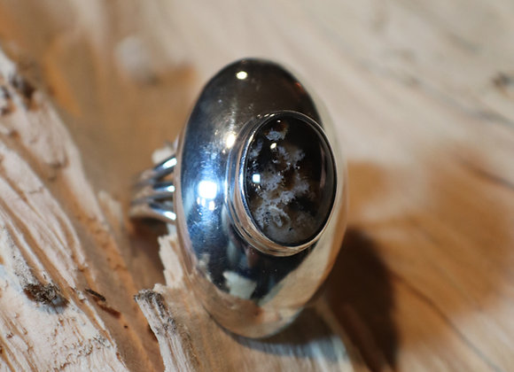 Orville Tsinnie Agate Beetle Ring