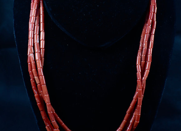 Beautiful Coral 4-Strand Necklace