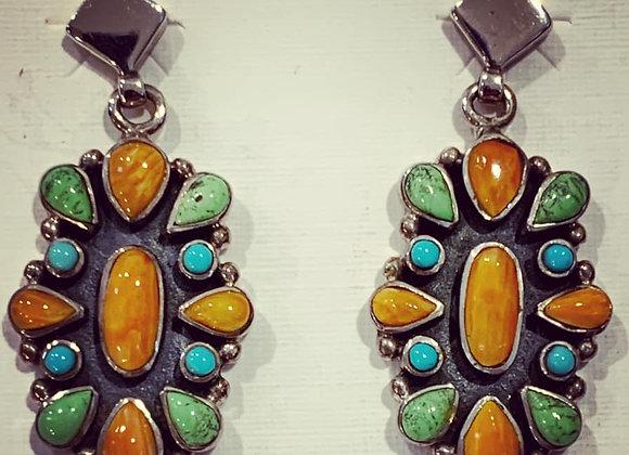 Navajo Cluster Earrings