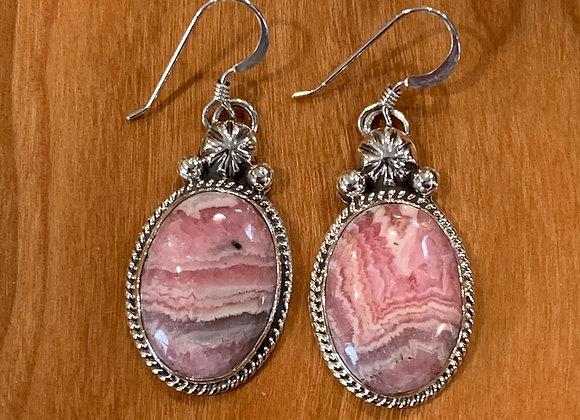 Handmade Rhodochrosite Earrings