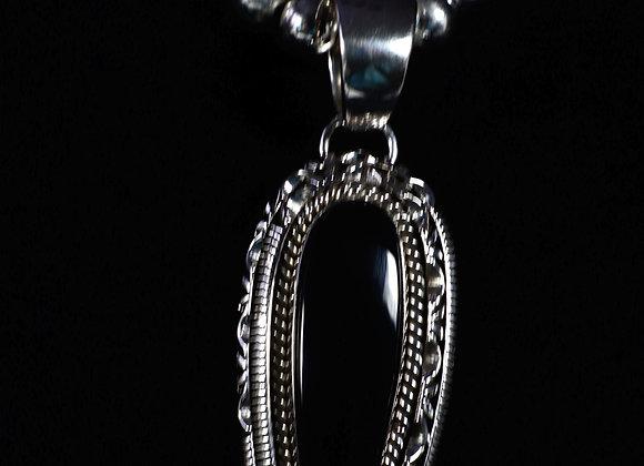 Artie Yellowhorse Onyx Pendant