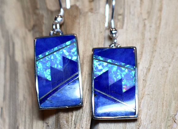 Supersmith – David Rosales – Blue Sky Inlay Earrings