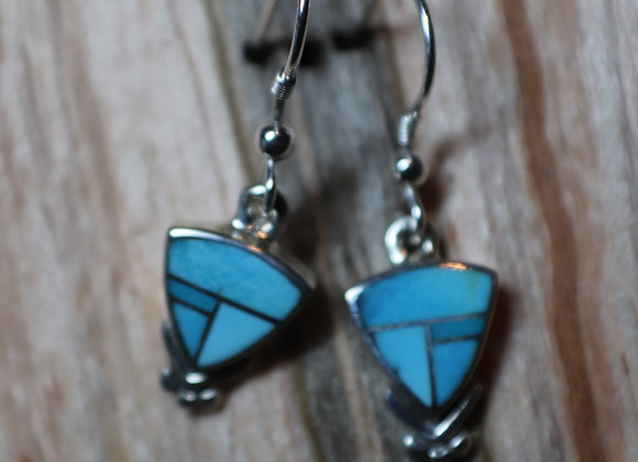 "Supersmith Inlay ""Arizona Blue"" Earrings"