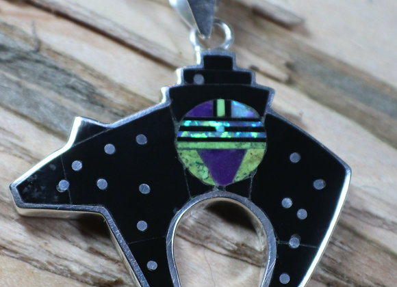 Stunning Two-Sided Supersmith – David Rosales Bear Pendant