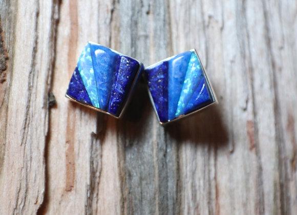 Supersmith – David Rosales – Blue Sky Cobble Stud Earrings