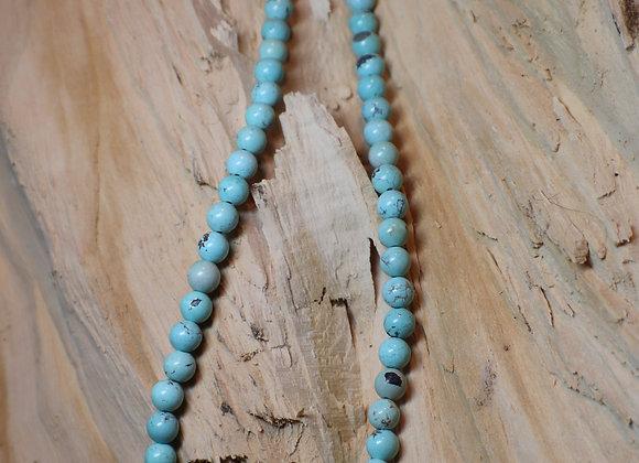 Santa Domingo – Juanita Tensio Natural Pale Green Turquoise Beaded Necklace