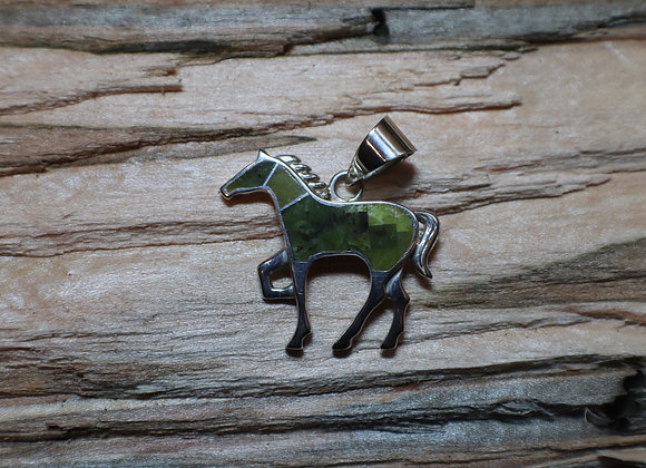 Supersmith – David Rosales – Willow Inlay Horse Pendant