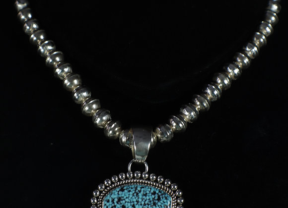 Gorgeous Artie Yellowhorse Turquoise & Sterling Pendant