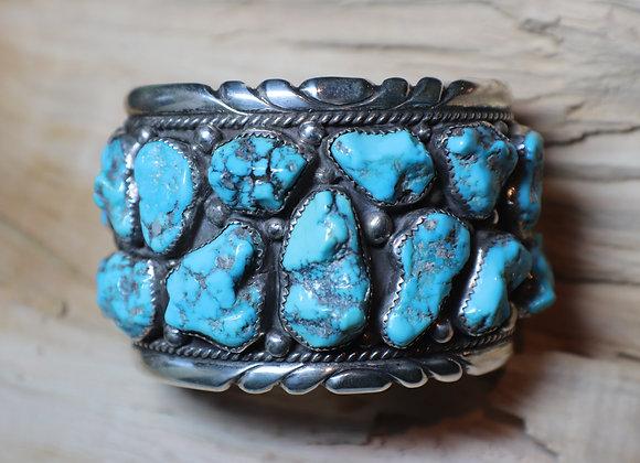 Vintage, EY Mahooty, American Turquoise, Heavy-weight Cuff