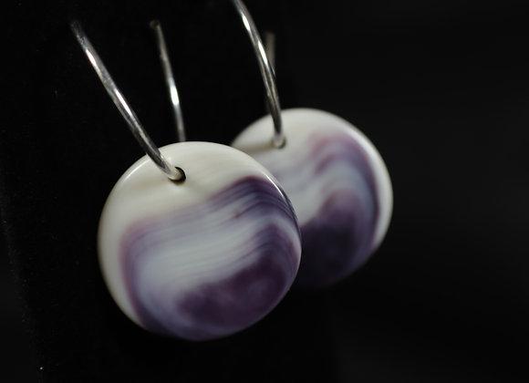 Wampum Hoop Earrings