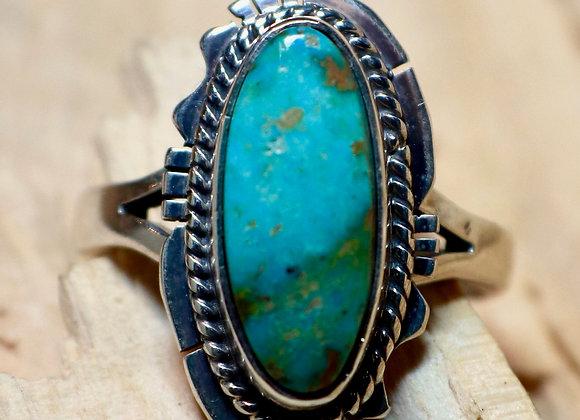 Navajo Green Turquoise Ring