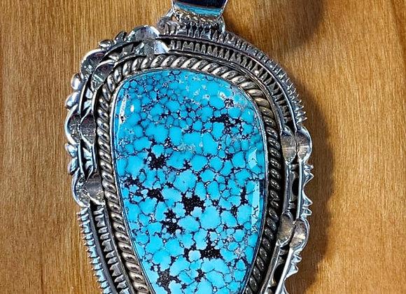 Artie Yellowhorse Stunning Natural Kingman Turquoise Pendant