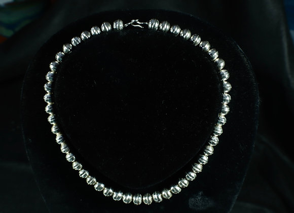 Sterling Silver Handmade Beaded Necklace