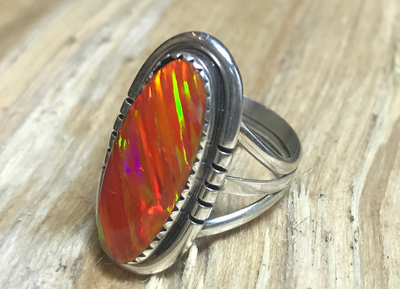 Gorgeous Fire Lab Opal Ring