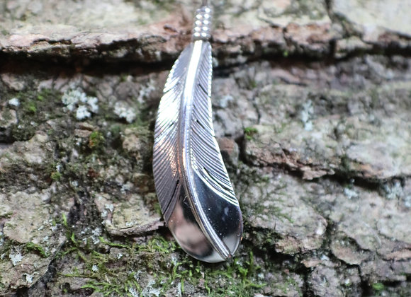 Sterling Feather Pendant