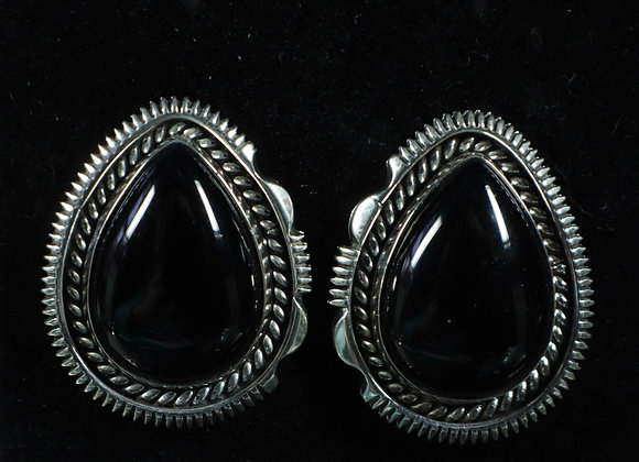 Artie Yellowhorse Black Onyx Earrings