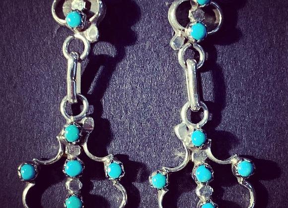 HandmadeSuni Petit-Point Turquoise Earrings