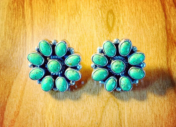 Gaspeite Cluster Stud Earrings