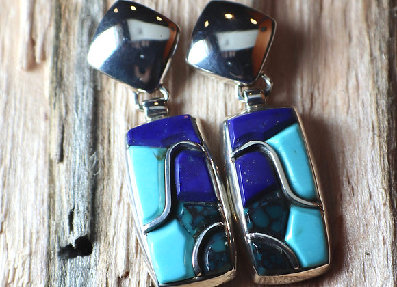 Supersmith – David Rosales – Blue Mountain Earrings