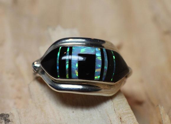A. Francisco - Navajo - Black Jade and Opal Ring